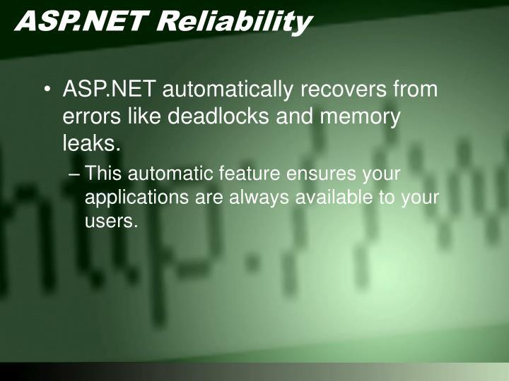 ASP.NET Reliability
