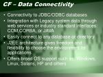 cf data connectivity