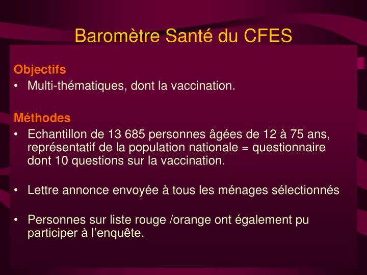 Baromètre Santé du CFES