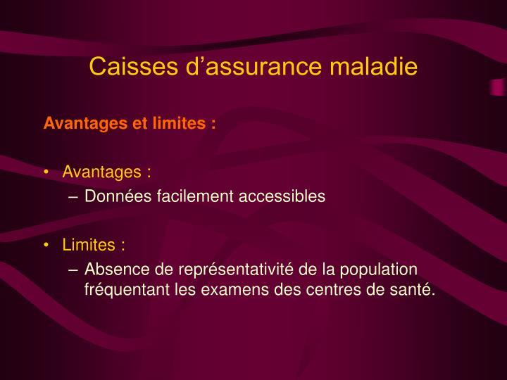 Caisses d'assurance maladie
