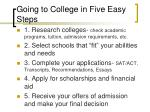 going to college in five easy steps