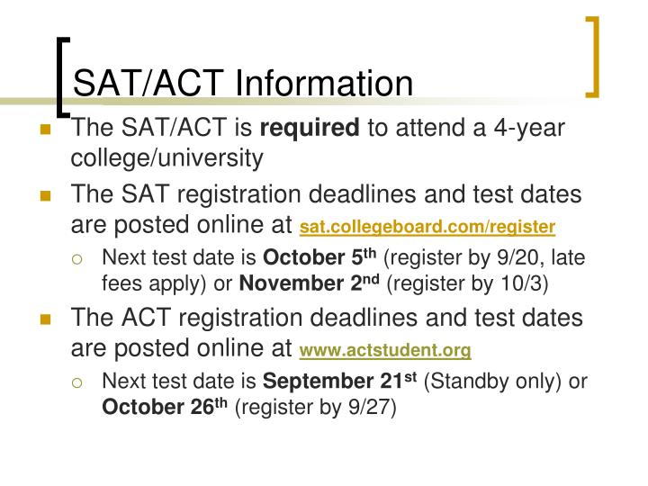 SAT/ACT Information