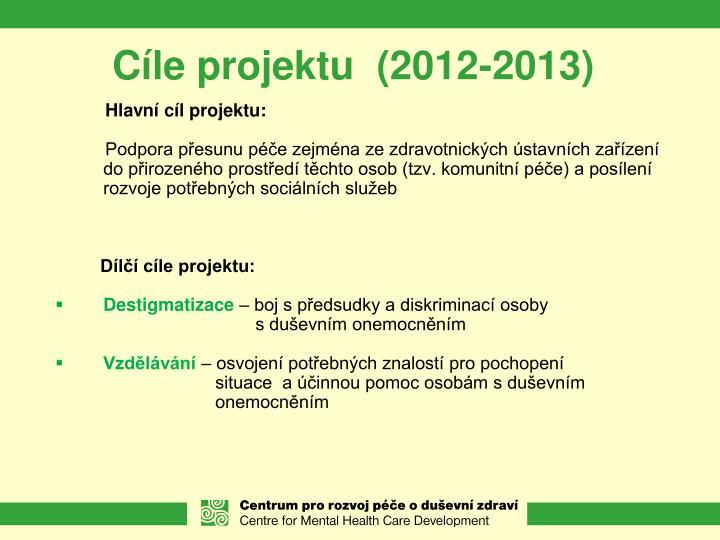 Cíle projektu  (2012-2013)