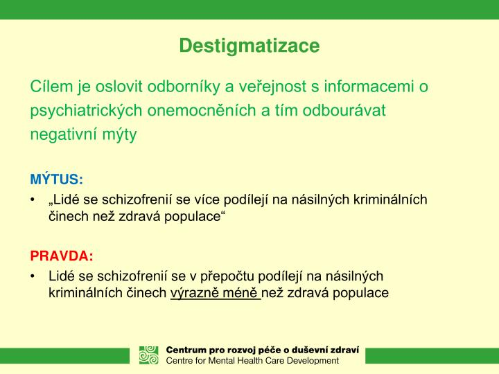 Destigmatizace