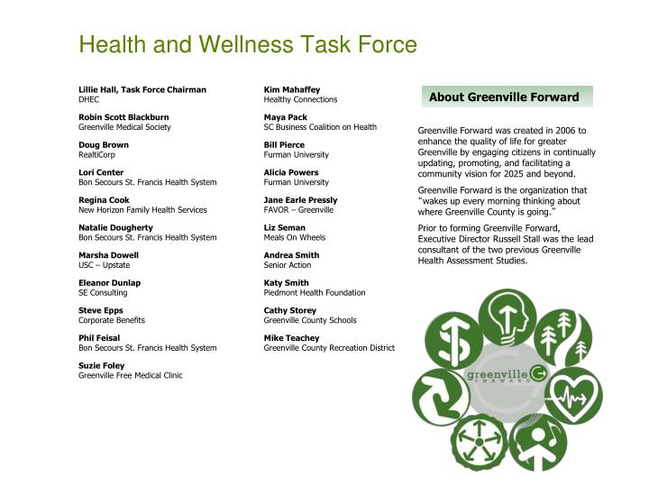 Health and Wellness Task Force
