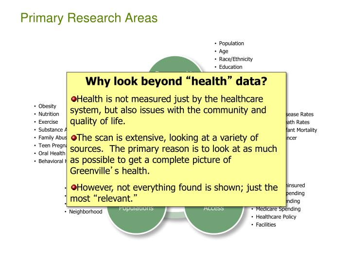 Primary Research Areas