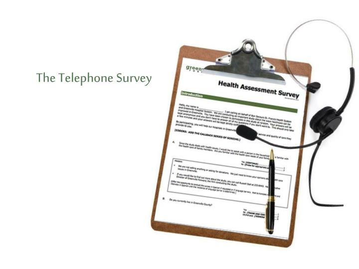The Telephone Survey