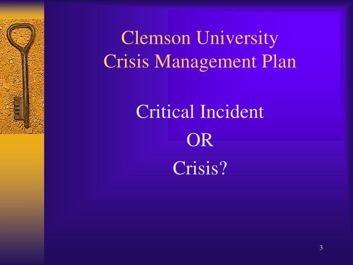 Crisis management plan for kyambogo university