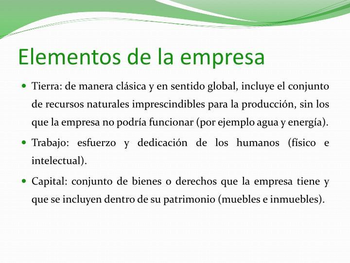 Elementos de la empresa