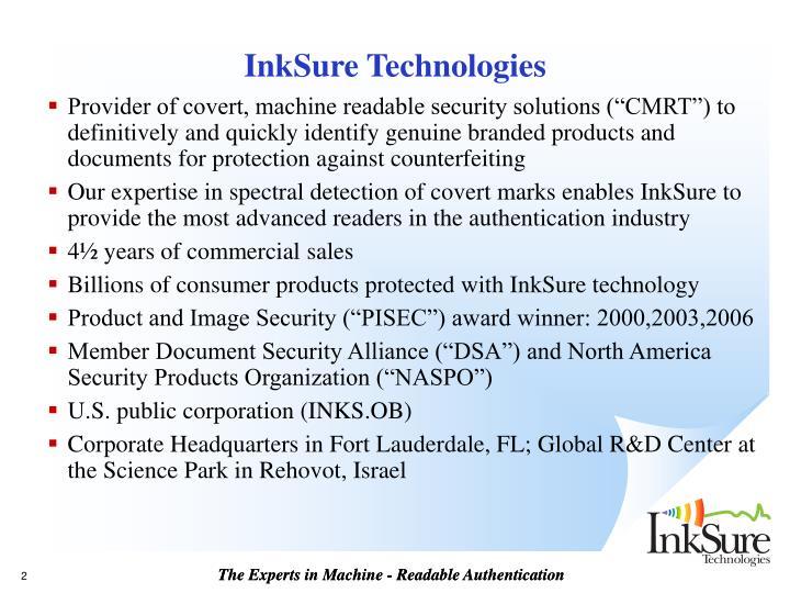 InkSure Technologies