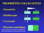 propri t s colligatives tonom trie ebullioscopie cryoscopie pression osmotique