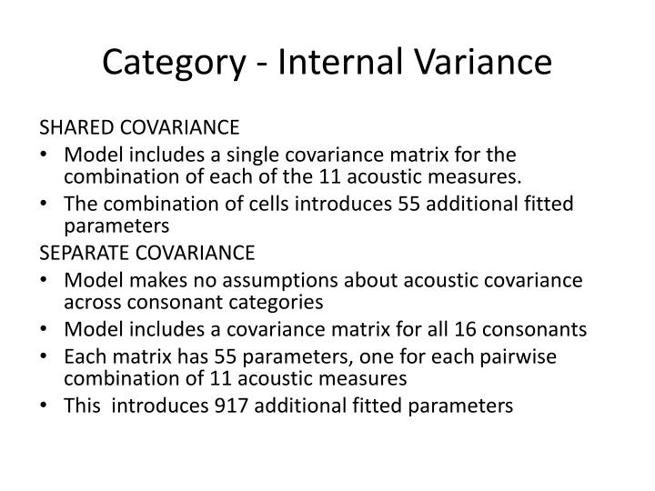 Category - Internal Variance