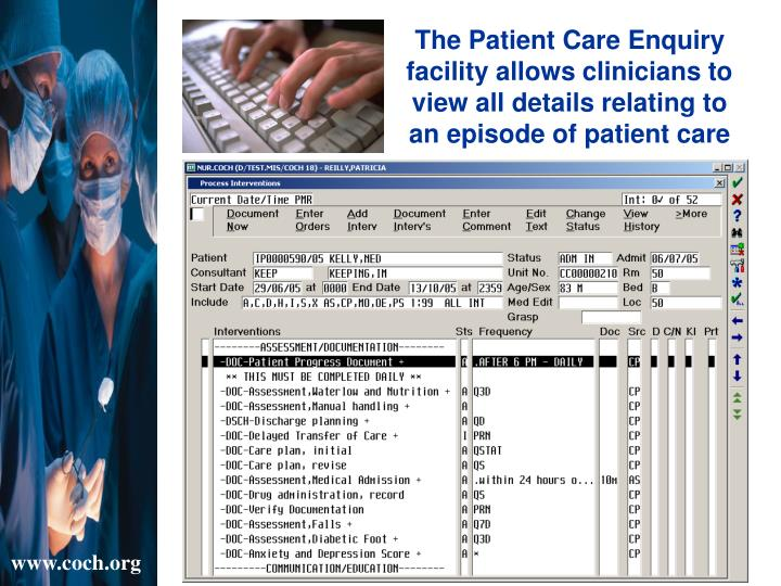 The Patient Care Enquiry