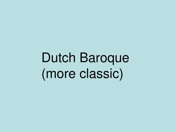 Dutch Baroque