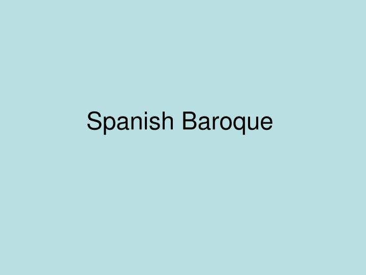 Spanish Baroque