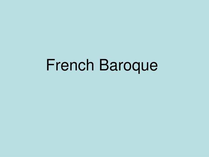 French Baroque