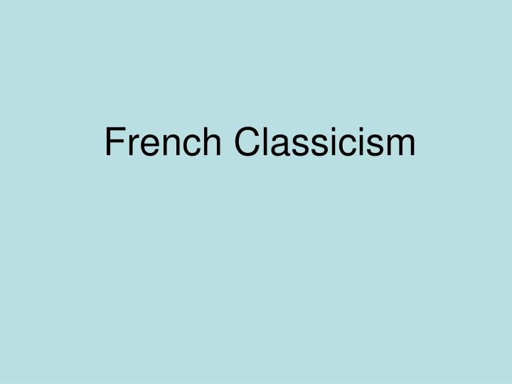 French Classicism