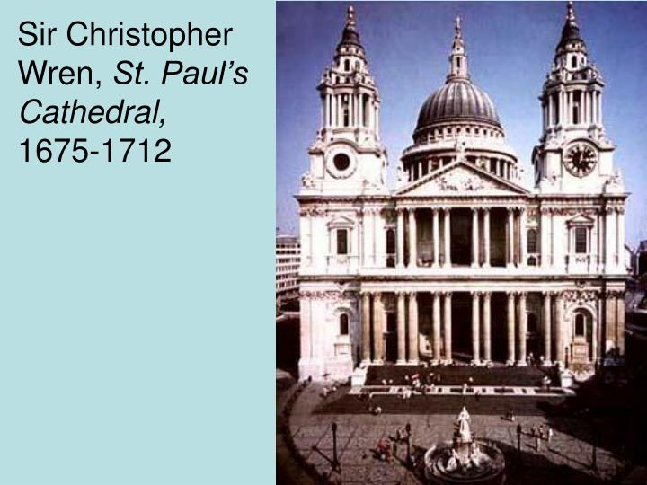 Sir Christopher Wren,