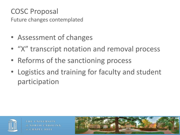 COSC Proposal