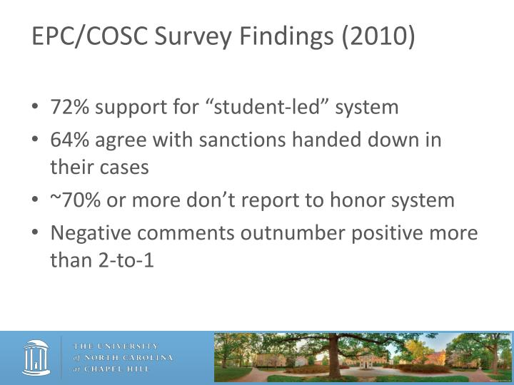 EPC/COSC Survey Findings (2010)
