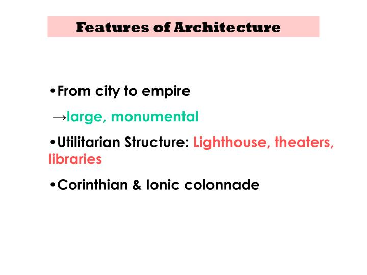 Features of Architecture