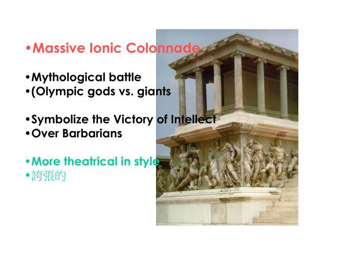 Massive Ionic Colonnade