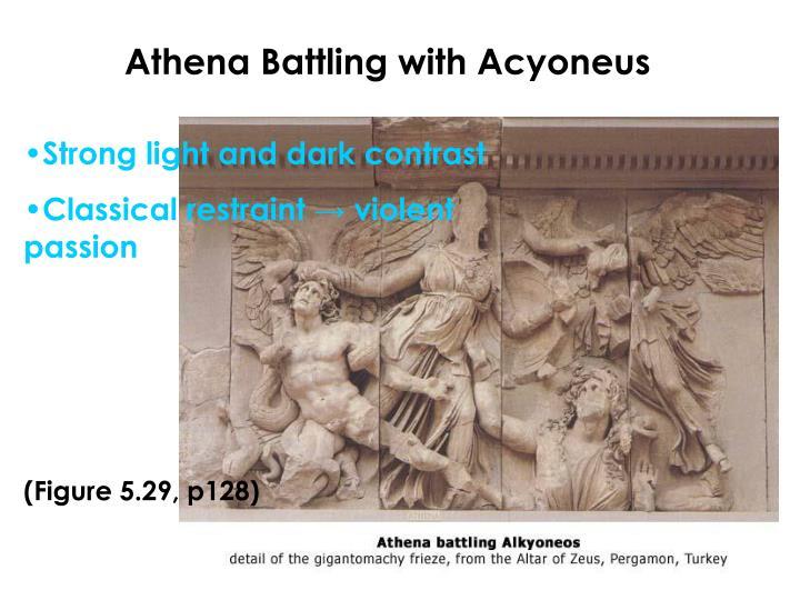Athena Battling with Acyoneus