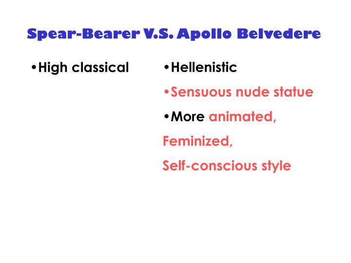 Spear-Bearer V.S. Apollo Belvedere