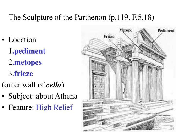 The Sculpture of the Parthenon (p.119. F.5.18)