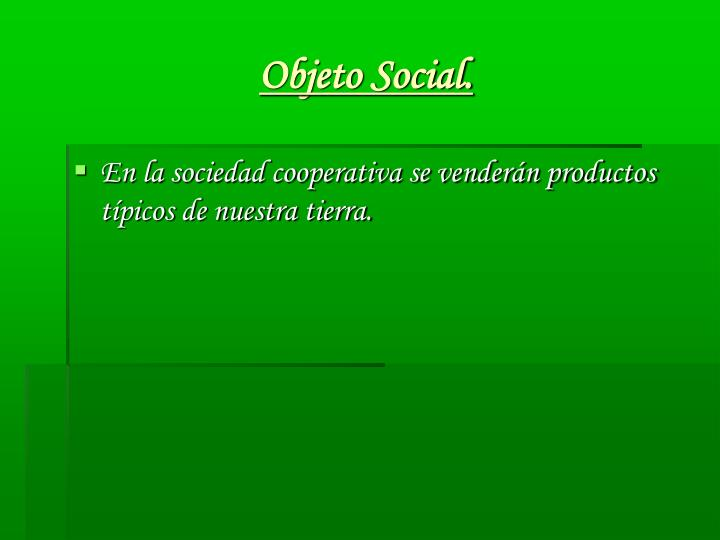 Objeto Social.