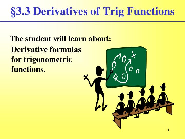 3 3 derivatives of trig functions