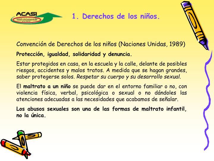1. Derechos de los niños.