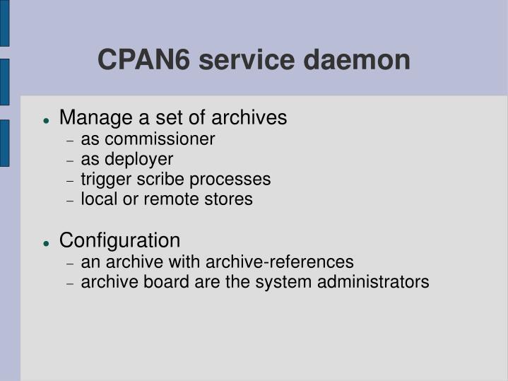 CPAN6 service daemon