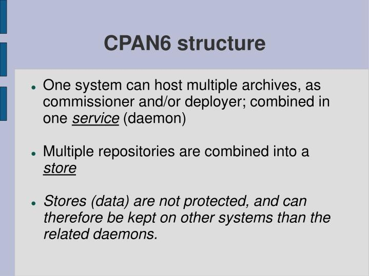 CPAN6 structure