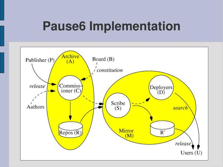 Pause6 Implementation