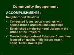 community engagement6