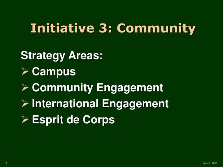 Initiative 3: Community