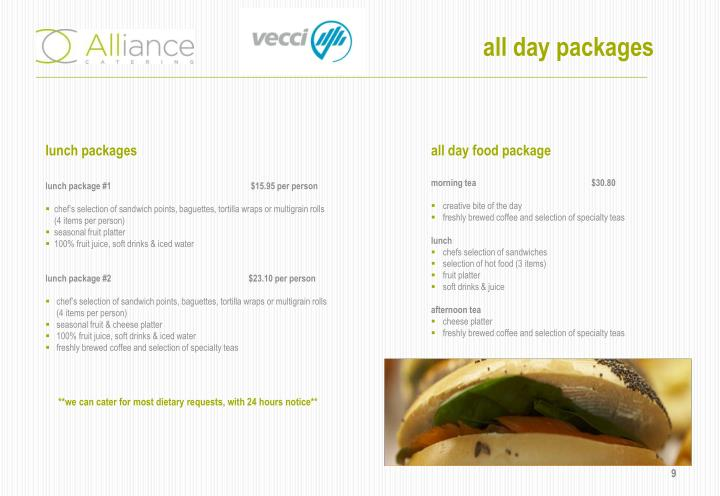 all day packages