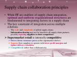 supply chain collaboration principles