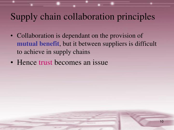Supply chain collaboration principles