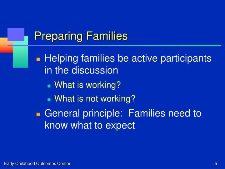 Preparing Families