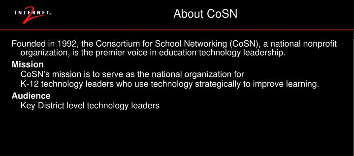 About CoSN