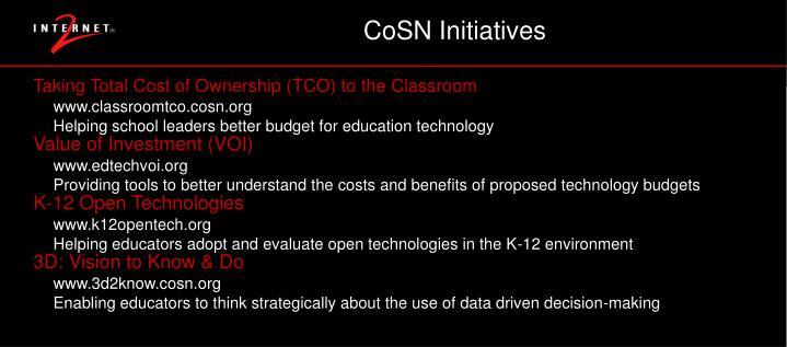 CoSN Initiatives