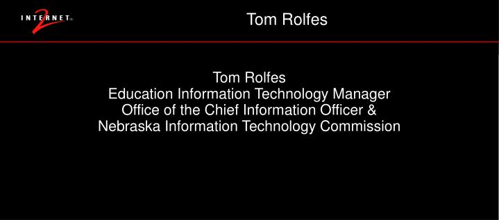 Tom Rolfes
