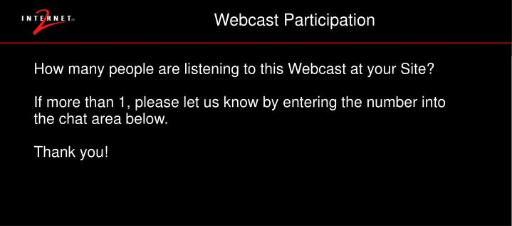 Webcast Participation