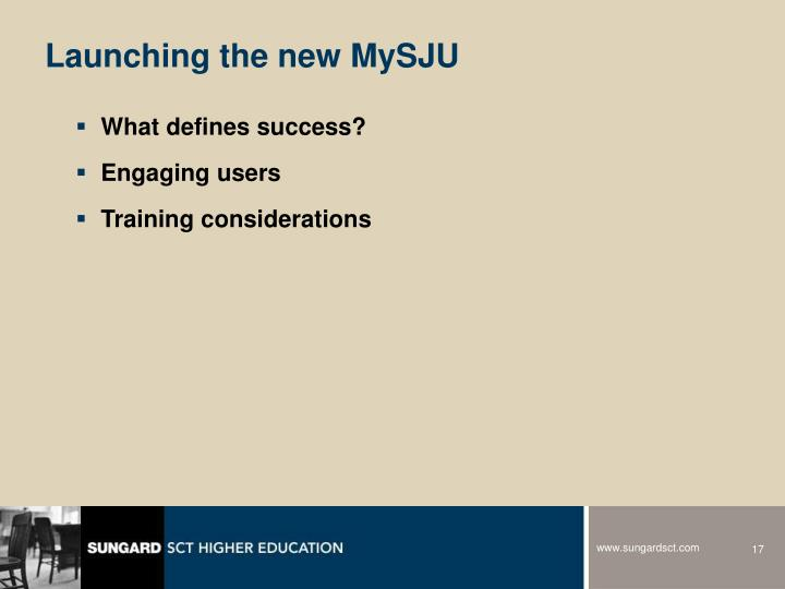Launching the new MySJU