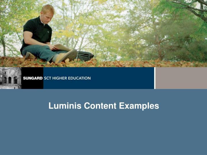 Luminis Content Examples