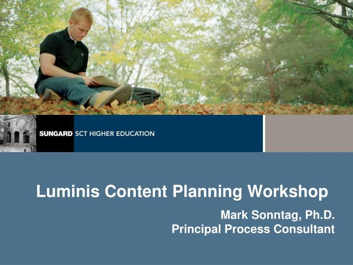 luminis content planning workshop