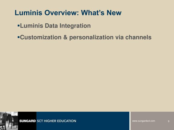 Luminis Overview: What's New