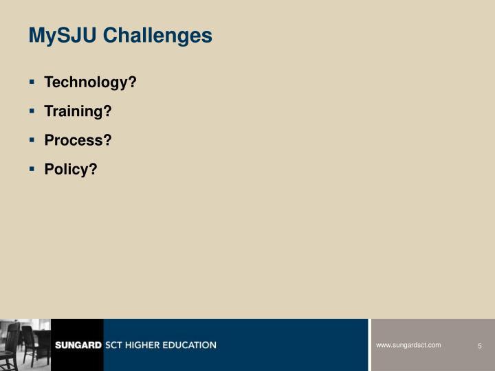 MySJU Challenges